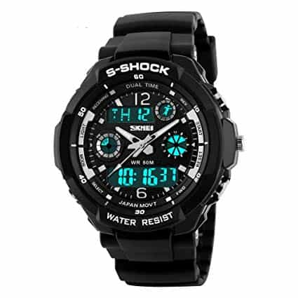 skmei watchproof military style watch