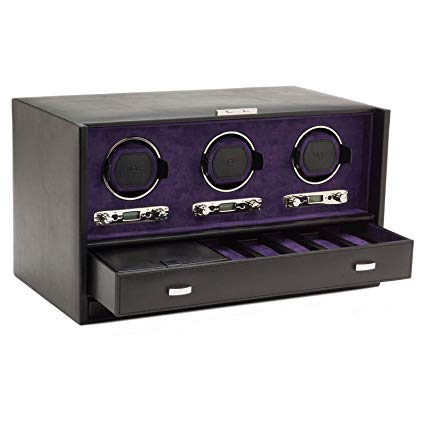 Wolf Blake Triple 2.7 Automated Mechanical Lockable Watch Winder