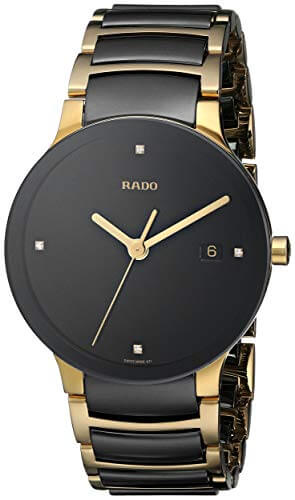 Rado Centrix Gold Watch with Diamond Swiss Quartz Movement