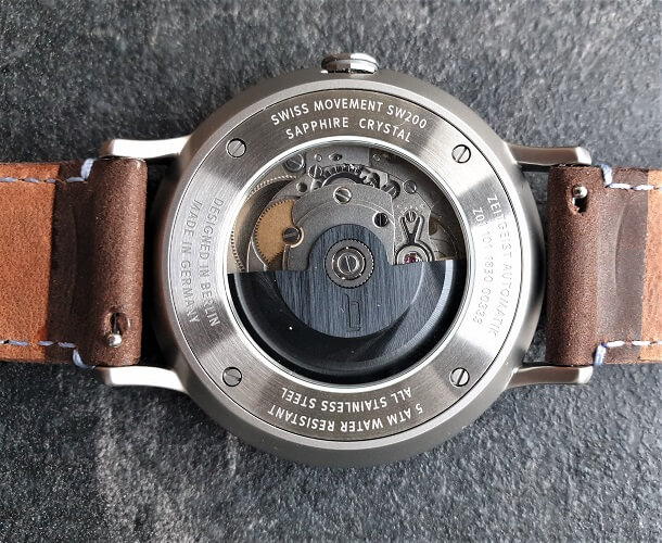 Lilienthal Berlin Watches exhibition caseback