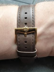 DuFa Watches review strap and buckle